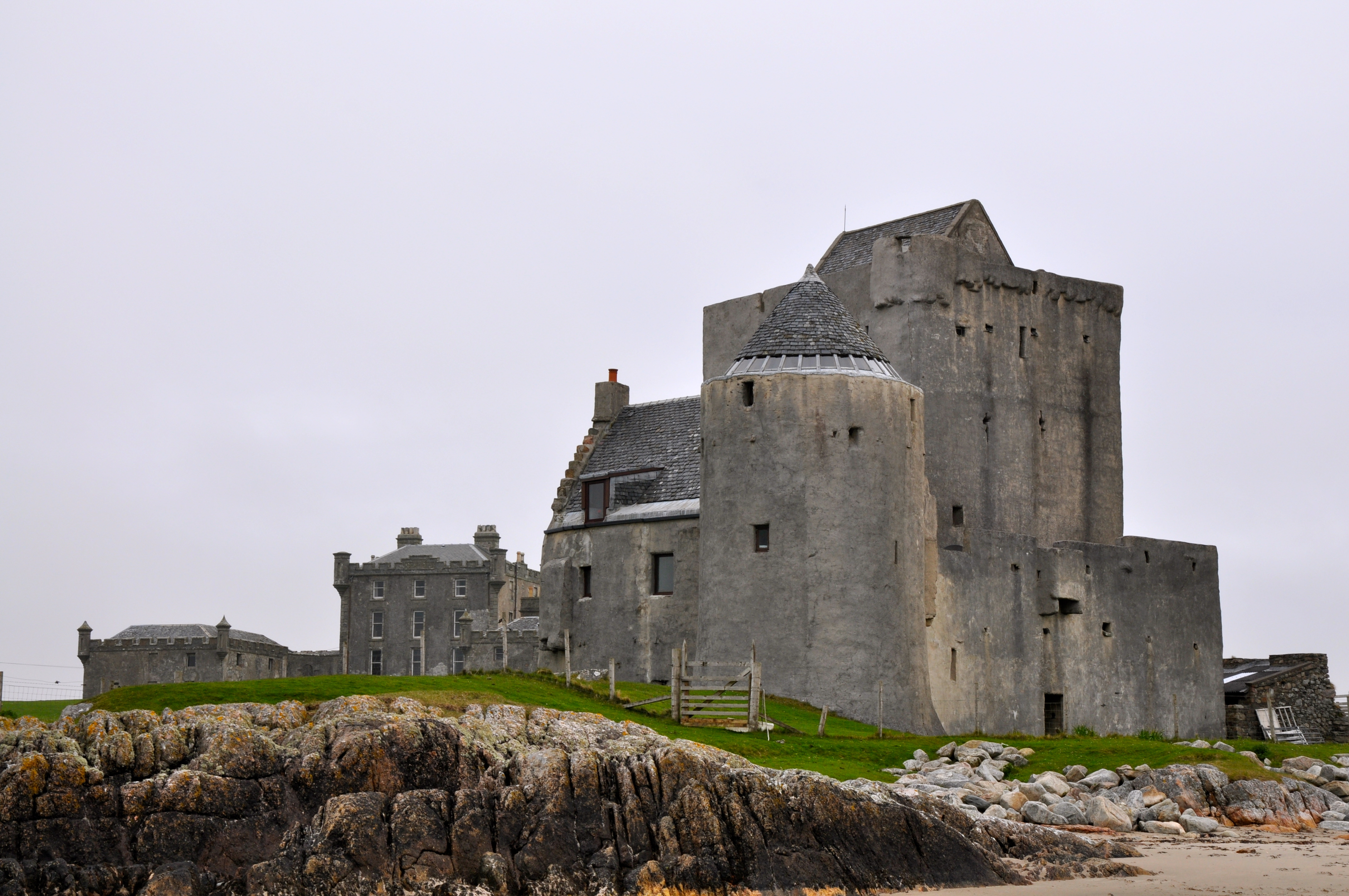 The Old Breachacha Castle on the Isle of Coll, Scotland ...
