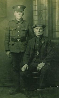 James Martin age 16 with his father Frank Martin 1914
