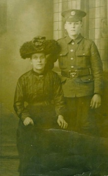 James Martin age 16 with his mother Annie Martin nee Byng 19