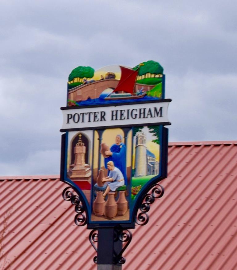Village Sign & Church, St Nicholas, Potter Heigham, Norfolk